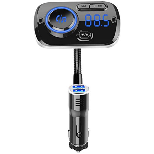 Fliyeong Kfz-Ladekit MP3-Player Display Freisprecheinrichtung Anrufen FM-Unterstützung 2 Telefone MP3-Fahrzeug Ausschalten Speicherfunktion FM-Frequenz 87,5 MHz-108,0 MHz Hohe Qualität -