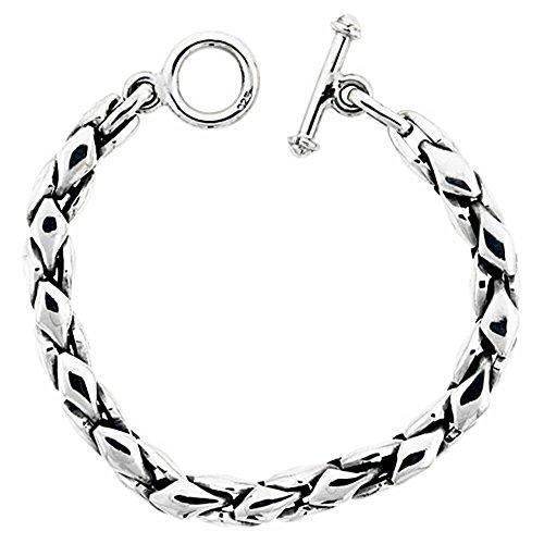 Bracelet Femme-Argent 925/1000Forme Diamant, 5/40,6cm Large, tailles 8, 8,5, 9, 22, & 61cm