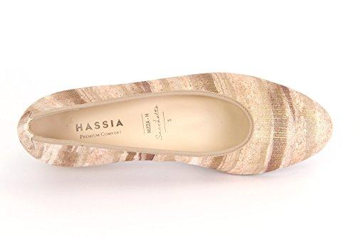 Hassia Nizza, Favola-leder, Camel, Weite H, Vario-fussbett, 302107-1100 Braun