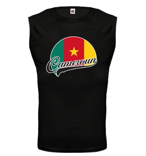 buXsbaum® Tank Top Kamerun-Logo Black-z-direct