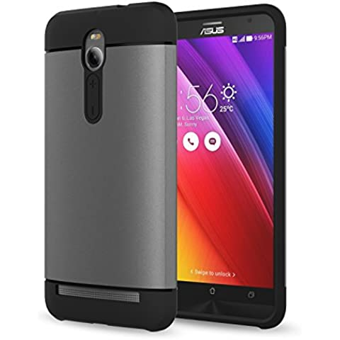 MoKo ASUS ZenFone 2 Funda - [Scratch Resistant] Hybrid Armor Series Dual Layer Protección - Scratch Technology Corners + Bumper Funda for ASUS ZenFone 2 5.5 Inch Android Smart Phone 2015 release,