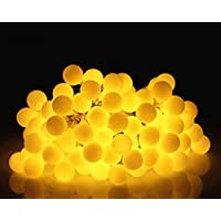 LED Fairy String Lights, GDSZHS Globe String Lights 5M 50 LED Lights for Party Living Room Bedroom Patio Garden (Warm White 02)