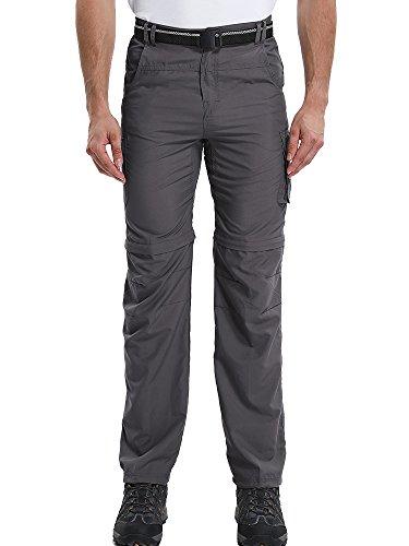 Jessie Kidden Men's Finishing Pants Outdoor Quick Dry Active Windproof Convertible Hiking Cargo Trouser #225