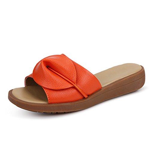 Pantofole piane dei sandali di modo di estate Pistoni dei fiori (5 colori opzionali) (formato opzionale) ( Colore : B , dimensioni : EU36/UK4/CN36 ) B