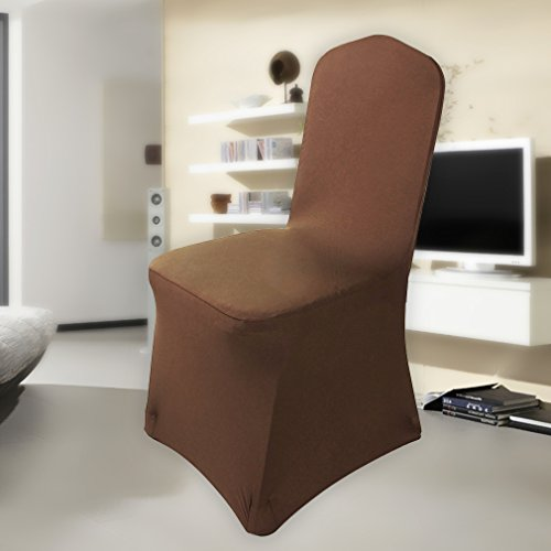 coprisedie elasticizzato in tessuto,auralum® copertura della sedia ... - Sedia Rivestimento Tessuto Caffe