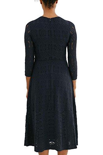 edc by Esprit 037cc1e022, Robe Femme Bleu (Dark Blue)