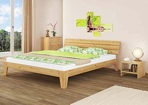 Erst-Holz® Futonbett Doppelbett 180×200 Massivholz-Bettgestell Kiefer Natur ohne Rollrost 60.62-18 oR