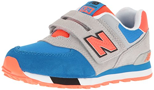 New Balance Unisex-Kinder Kv574czy M Hook and Loop Sneakers Mehrfarbig (Grey/blue)