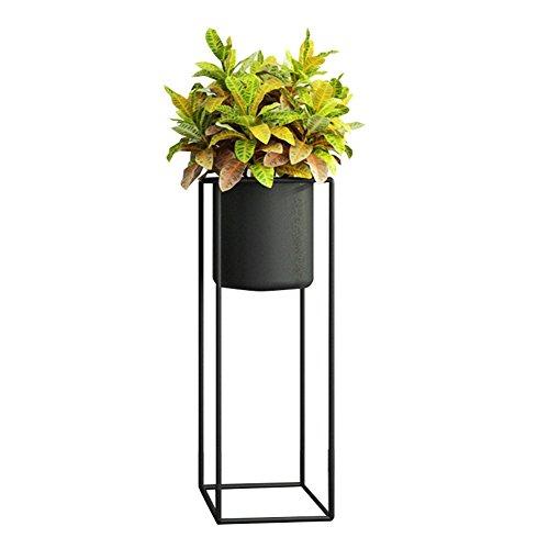 ZWD Stand de plantes d'intérieur, créatif fer Art Flower Pot cadre noir plancher lieu salon chambre Bureau d'étude imperméable à l'eau antirouille Produits menagers (taille : 20 * 20 * 60CM)
