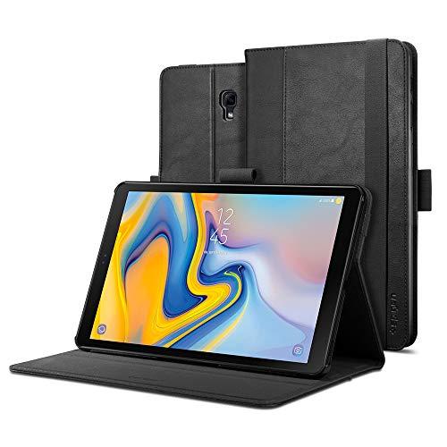 Spigen Galaxy Tab A 10.5 Hülle, Stand Folio entworfen für Galaxy Tab A 10.5 Zoll 2018 Case Cover (SM-T590/SM-T595) - Schwarz