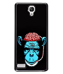 PrintVisa Designer Back Case Cover for Xiaomi Redmi Note :: Xiaomi Redmi Note 4G :: Xiaomi Redmi Note Prime (Monkey Animal Gorrila Blood Drinking)