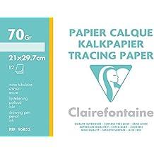 Clairefontaine - 96852c - 12 Feuilles de Papier Calque - 70/75 g/m²