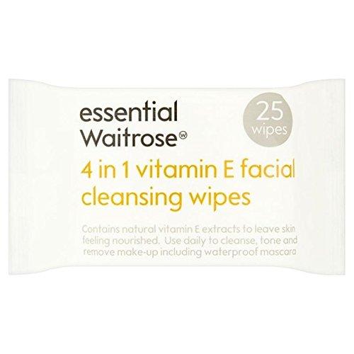 essential-4-in-1-cleansing-wipes-vitamin-e-waitrose-25-per-pack