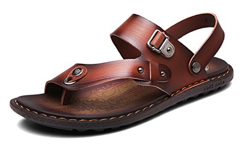 Respeedime Herren Peep-Toe, Dark Brown Sandal - Größe: 38 Dark Brown Peep Toe