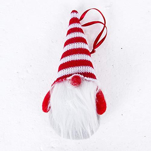 juler 10 stücke Saisonale Dekor Weihnachten Neuheit Dekoration Weihnachtsbaum Anhänger Puppe Weihnachten Niedliche Puppe Anhänger,Grau,Einheitsgröße (Niedliche Halloween Basteln Für Erwachsene)