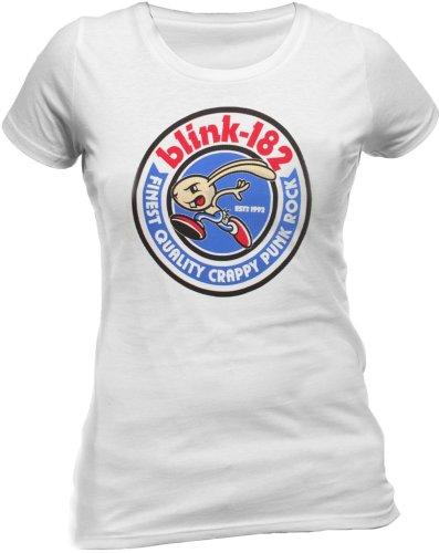 Probity Damen T-shirt   - Weiß - Weiß - X-Large (Blink-182 Hoodie)