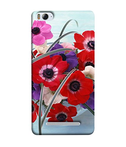 PrintVisa Designer Back Case Cover for Xiaomi Redmi 4A (Floral Plant Bloom Red Fresh Pink Colorful Green)