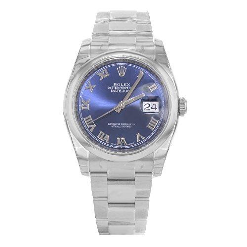 Rolex Datejust setzt 116200BLRO Edelstahl Automatik Herren-Armbanduhr