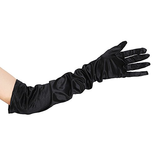 NEW LONG BLACK GLOVES - LADIES OPERA FANCY DRESS (Ideen Cruella Kostüme)