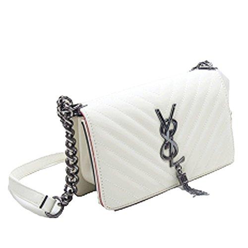 Preisvergleich Produktbild Women's Bag Mode Flut Weiblichen Beutel Kleine Tasche Kleine Quadratische Tasche V Kleine Kleine Wind Tasche Schulter Diagonal Handtasche, Beige-OneSize