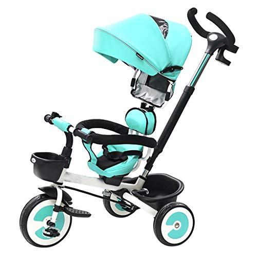 Love lamp-reisesysteme Klapp Kinder Dreirad 1-3-6 Jahre alt Fahrrad Kinderwagen Kinderwagen Slip Baby Artefakt (Color : Blue)