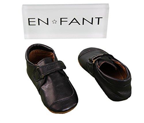 EN-FANT garçon chaussures bébé debout scratch en cuir noir, taille 23, 815060U-00 noir