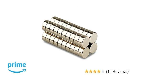 Neodym Magnete 6 x 3 mm Supermagnete hohe Haftkraft Scheibenmagnet N35-5 Stück