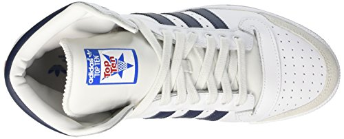 adidas Top Ten Hi, Baskets mode mixte adulte Blanc (Neo White S08/New Navy Ftw/Collegiate Red)