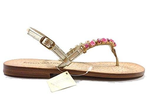 scarpe donna EDDY DANIELE 37 sandali platino fucsia swarovski AW47