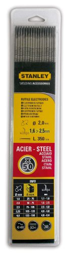 Stanley 460820 - Electrodos para soldadura (50 unidades, 2 mm de diámetro)