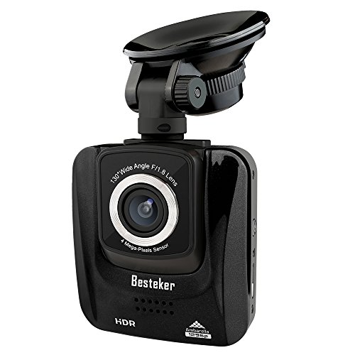 1296P Full HD Dashcam mit Nachtsicht Mini, Besteker HDR 1080P Fahrzeug Auto Kamera Dashboard fürs Car DVR Video Recorder Videoaufzeichnung, G-Sensor, Parkmonitor und Loop-Aufnahme(SD-Karte inklusive)