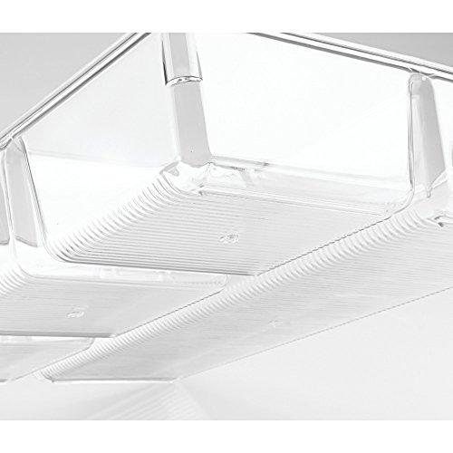 InterDesign Linus Schubladenbox für Schrank oder Schminktisch, 33,0 cm x 22,9 cm x 5,7 cm Aufbewahrungsbox mit 4 Fächern aus Kunststoff, durchsichtig - 6