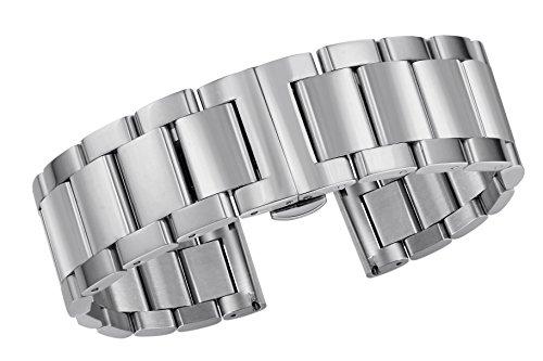 Autulet 15mm Edelstahl UhrenarmbandFrauen Silber