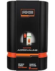Axe Coffret Cadeau Adrenaline Daily Fragrance + Anti-transpirant pour Homme