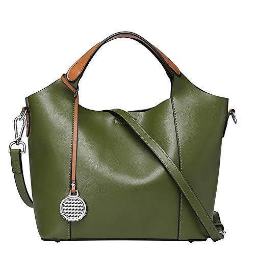 JKLP Lederhandtaschen Leder Muttertasche Handtaschen Damen Schulter Umhängetasche -