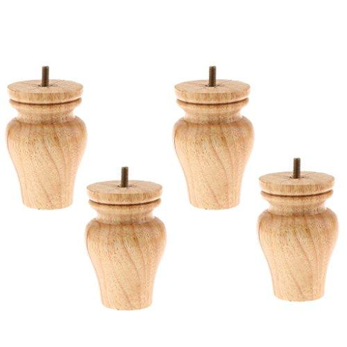 Backbayia 4 Stück Möbelfüße Holz Schrankfuß Tischfuß Sockelfuß für Möbelfüße Füße Sofa Couch Stuhl Bett Schrank Wohnzimmer Sofa Dekor -