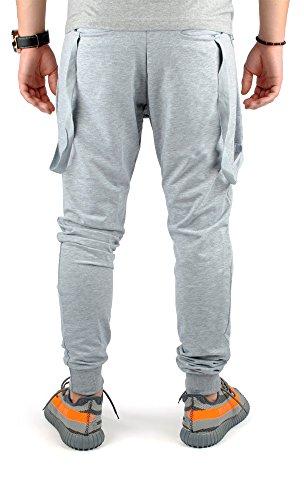 FiveSix Herren Jogginghose Freizeithose Trainingshose Sporthose Fitnesspants Sweatpants Hose Grau
