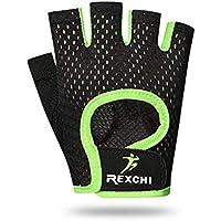 CA Fitnesshandschuhe Handgelenkstütze Handschuhe für Sporthandschuhe Atmungsaktiv Rutschfeste halbe Fingerhandschuhe für Gewichtheben Sport