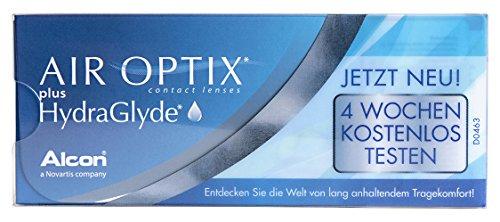 Air Optix plus HydraGlyde Monatslinsen weich, 7 Stück / BC 8.6 mm / DIA 14.2 mm / -0.25 Dioptrien
