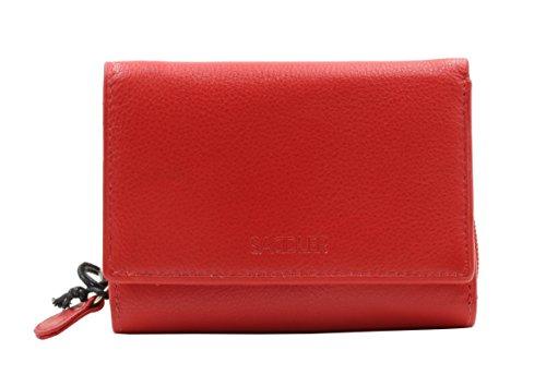 saddler-rojo-billetera-y-monedero-triple-pliegue-de-12cm-hecho-con-cuero-real-y-enmarcado-con-metal