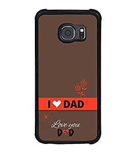 Vizagbeats Happy Father'S Day Back Case Cover For Samsung Galaxy S6