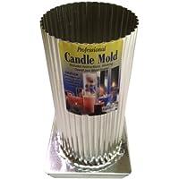 Yaley professionale in metallo candela mold-mini Scallop Round 3x 16,5cm