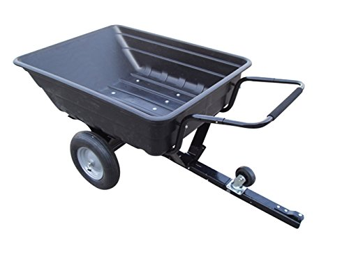 Turfmaster Gartenanhänger Geräteanhänger aus Kunststoff, max. Nutzlast 200 kg - Transportieren Sie Ihre Gartenabfälle etc. mit diesem praktischen Anhänger f. Rasentraktor, Aufsitzmäher etc.