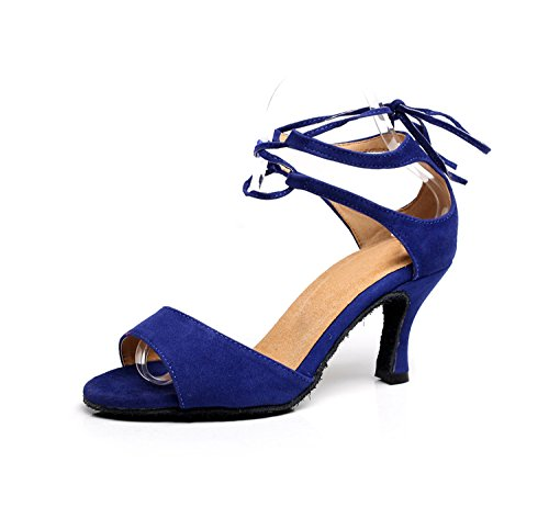 Minitoo ,  Damen Tanzschuhe Blue-7.5cm Heel