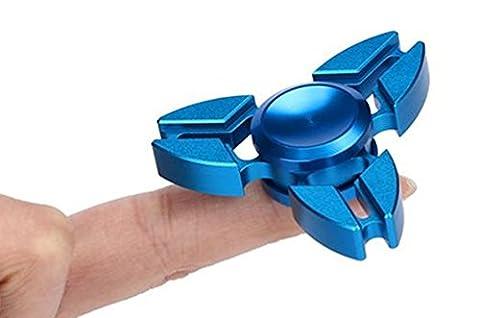 Oyedens Niedliche Lustige Tri Fidget Hand Spinner Dreieck Legierung Finger Spielzeug (Blau)