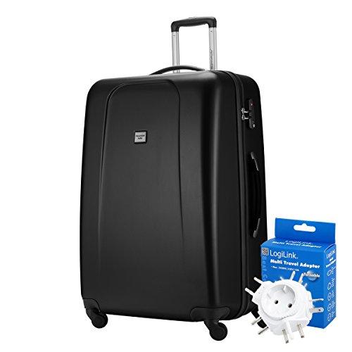 HAUPTSTADTKOFFER® 103 Liter XL Reisekoffer · WEDDING · TSA · MATT · (in versch. Farben) + REISEADAPTER (Weiss) Schwarz