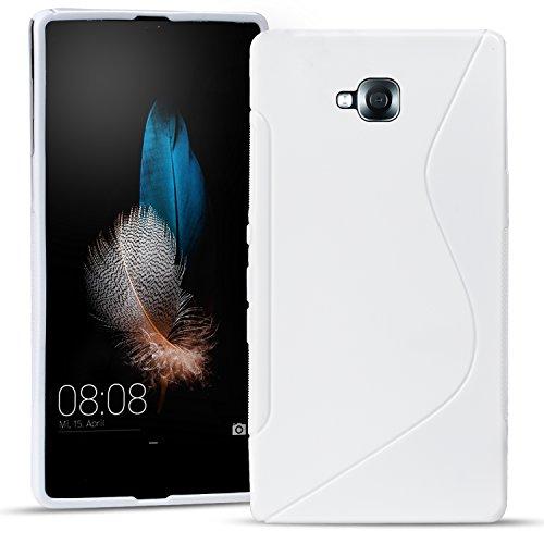 Conie SC15474 S Line Case Kompatibel mit LG G Pro Lite, TPU Smartphone Hülle Transparent Matt rutschfeste Oberfläche für G Pro Lite Rückseite Design Weiss