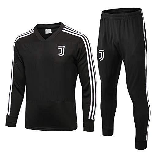 zhaojiexiaodian Juventus Club 1819 Fußball-Trainingsanzug Langärmliger Trainingsanzug-Set Langärmliger Pullover Aussehen Team Uniform, M