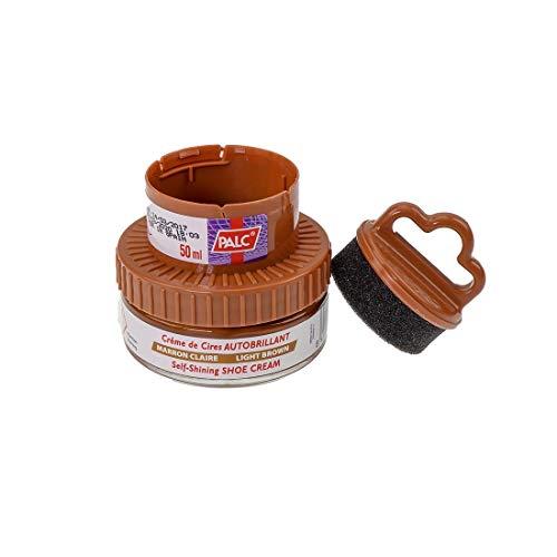 Creme Schuhcreme (Palc Wachs- Creme Selbstglanz 50ml Marron Claro)