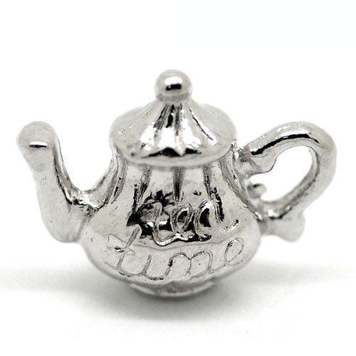 Paket 3 x Antik Silber Tibetanische 16mm Charms Anhänger (Teekanne) – (ZX05995) – Charming Beads
